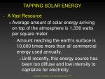 tapping solar energy