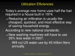 utilization efficiencies