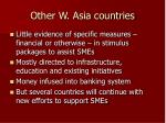 other w asia countries