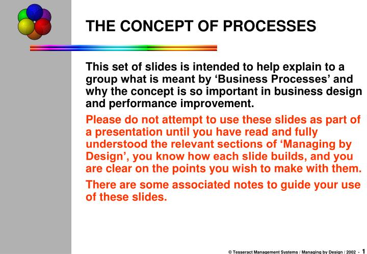 the concept of processes n.