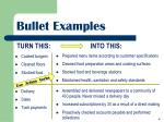 bullet examples