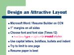 design an attractive layout