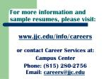 for more information and sample resumes please visit