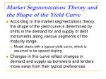 market segmentations theory and the shape of the yield curve