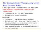 the expectations theory long term spot interest rates