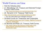 yield curves on line