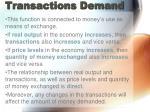 transactions demand