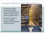 compact shelving with ars is cheaper