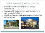 critical success factors for libraries