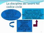 la disciplina del lavoro nel codice civile