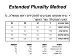 extended plurality method
