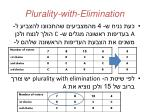 plurality with elimination1