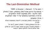 the last diminisher method
