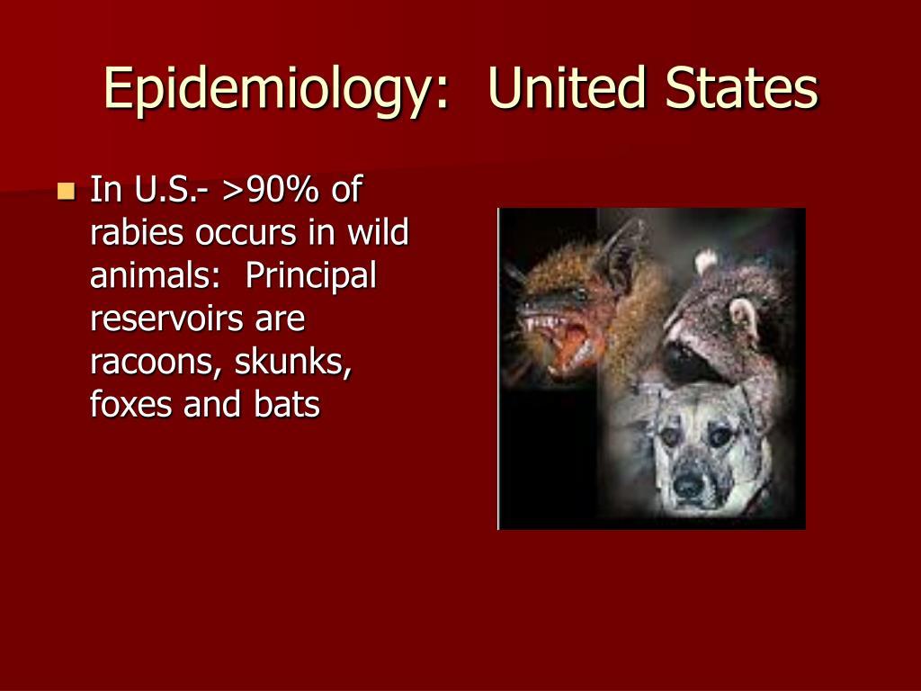 Epidemiology:  United States