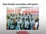 hero honda s association with sports