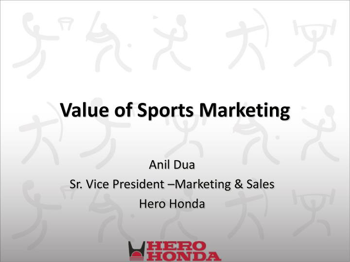 value of sports marketing n.