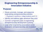 engineering entrepreneurship innovation initiative