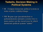 tsebelis decision making in political systems