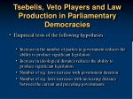 tsebelis veto players and law production in parliamentary democracies