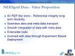 neesgrid data value proposition