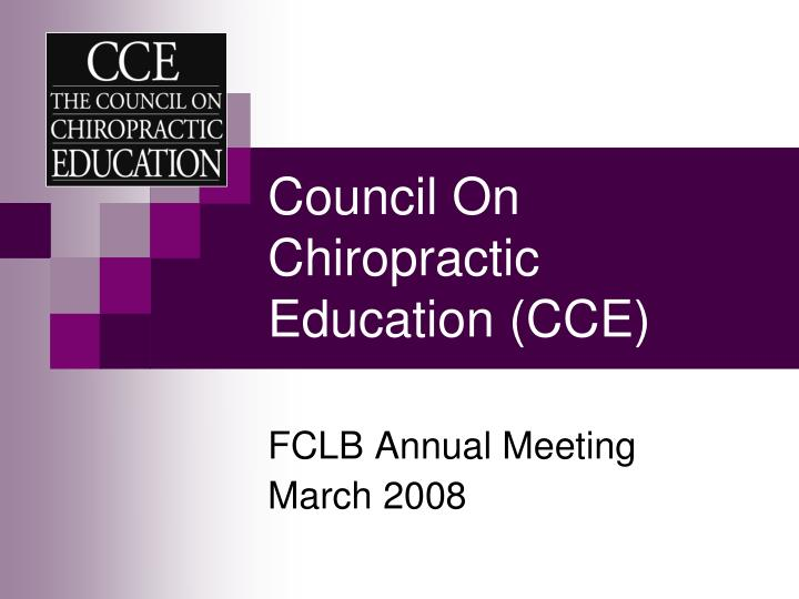 council on chiropractic education cce n.