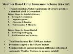 weather based crop insurance scheme pilot 2007