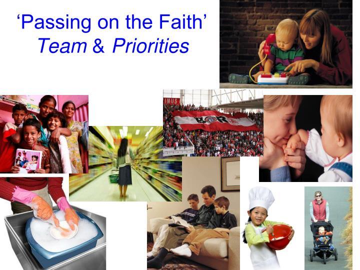 'Passing on the Faith'