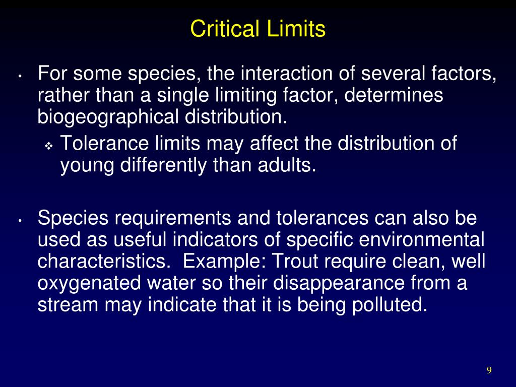 Critical Limits