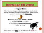 irregular er verbs