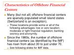 characteristics of offshore financial centers