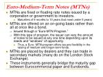 euro medium term notes mtns