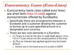 eurocurrency loans euro lines