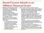 grand cayman islands as an offshore financial center
