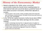 history of the eurocurrency market