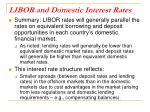 libor and domestic interest rates
