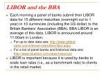libor and the bba