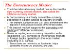 the eurocurrency market