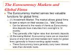 the eurocurrency markets and global firms