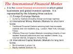 the international financial market