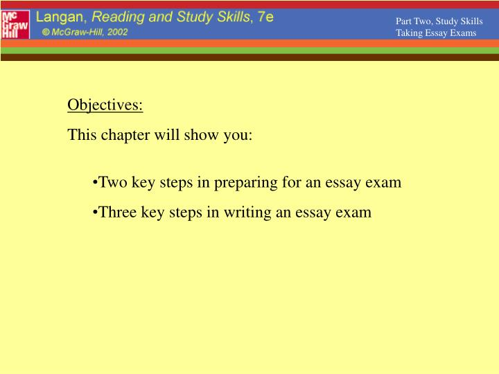 Ppt  Part Two Study Skills Taking Essay Exams Powerpoint  Part Two Study Skills Taking Essay Exams