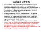 ecologie urbaine