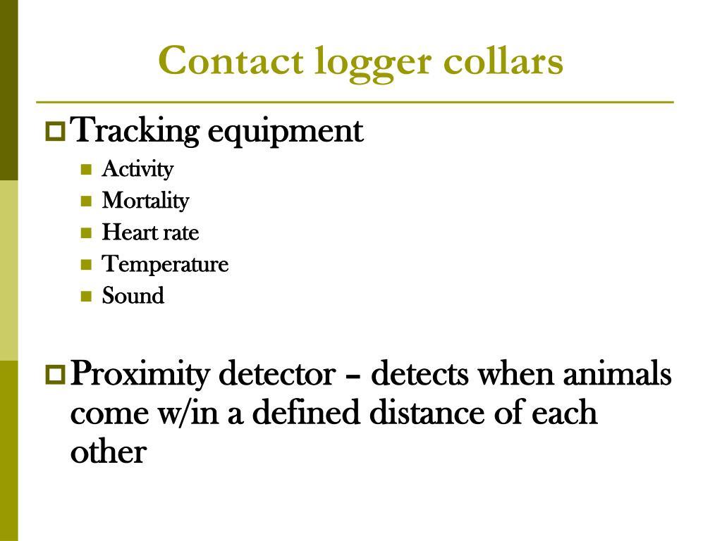 Contact logger collars