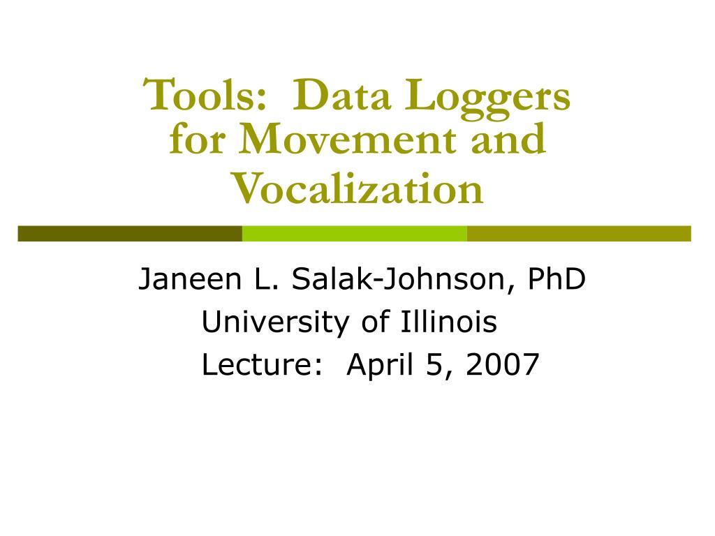 Tools:  Data Loggers