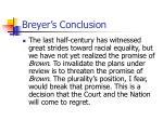 breyer s conclusion