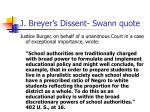 j breyer s dissent swann quote