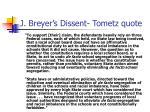 j breyer s dissent tometz quote