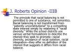 j roberts opinion iiib