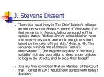 j stevens dissent