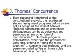 j thomas concurrence