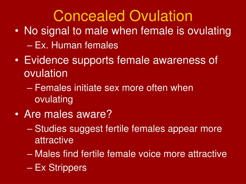Concealed Ovulation